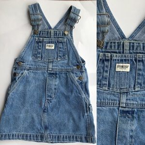 🌻 3/$25 Vintage Oshkosh 4T denim overall d…
